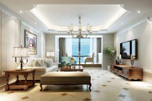 许昌时代皇庭装修美式简约风格设计师经典作品欣赏
