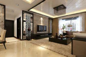 现代中式客厅装饰设计效果图