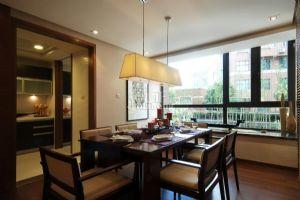 现代中式餐厅装饰设计效果图