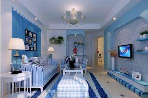 地中海风格客厅装饰设计效果图